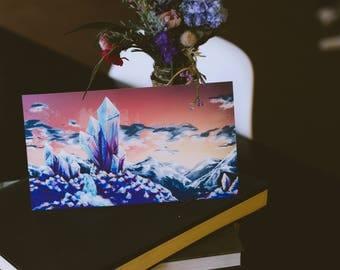 Crystal Landscape | 5x9 Print