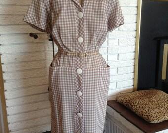 1950's Cotton Dress!! Size Medium!!