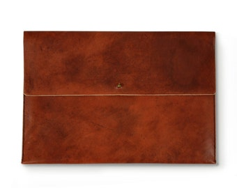 Two-tone Cognac Ipad Pouch