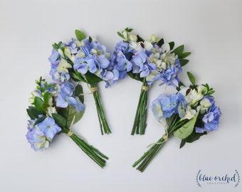 Bridesmaid Bouquet Wedding Flowers Faux Silk Boho