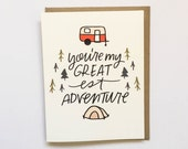 Your My Greatest Adventure | Valentines Cards | Valentine's Day Card | Great Adventure