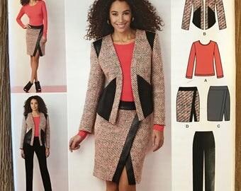 UNCUT Simplicity 1324 Top, Jacket, Skirt, Pants Sewing Pattern Size 8-10-12-14-16-18-20-22-24 Outfit, Wardrobe, Blazer, Shirt, Blouse