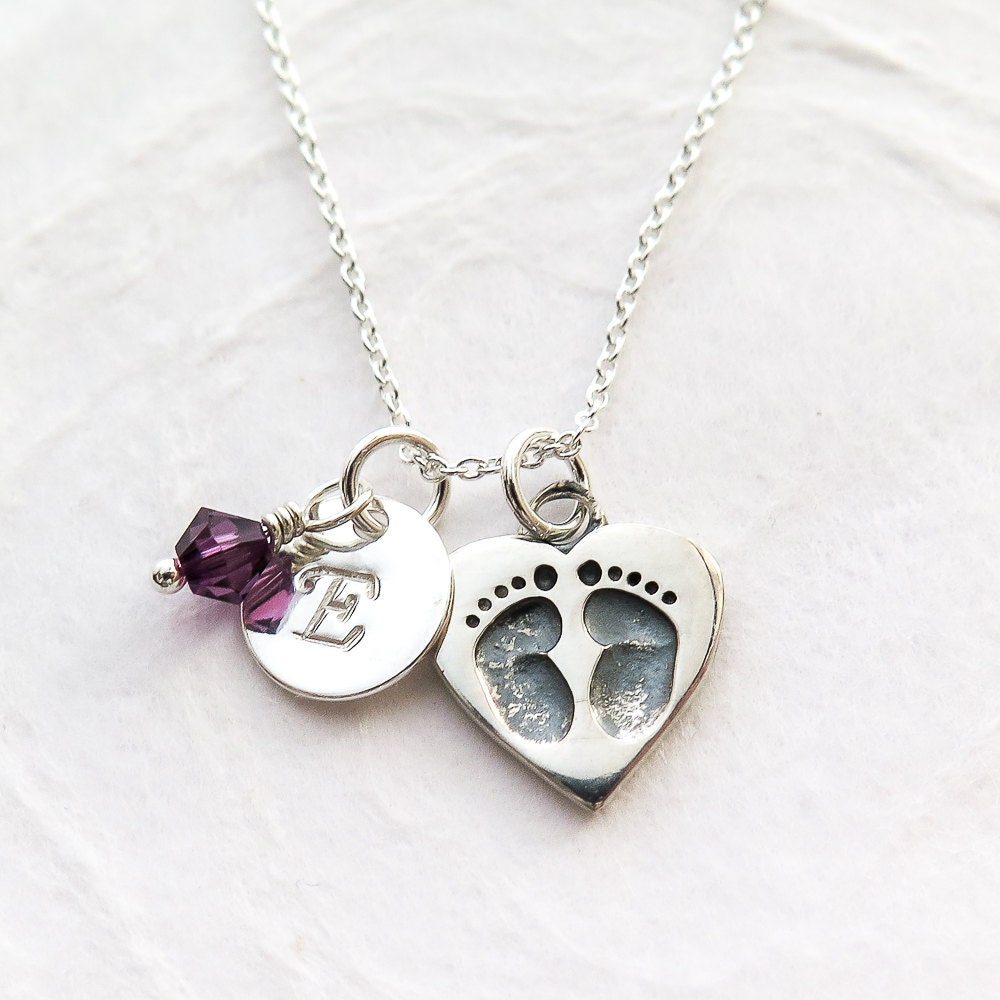 new mom necklace mother jewelry heart with baby