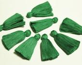 2'' Green Cotton Tassels,Tassels from India, Jewelry Making Supplies, Handmade Cotton Fringe , Ethnic Jewelry Boho Supplies (TS33)