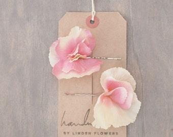 Blush Hydrangea Hair Flowers Wedding Hair Accessories