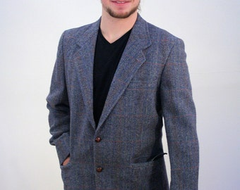 80s Pendleton Gray Tweed Blazer, Pendleton Sport Coat, Gray Tweed Pendleton Jacket, 42L