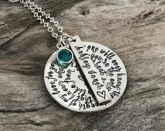 Strength of My Love for You You're the Only One Who Know What My Heart Sounds Like From Inside - Sterling Silver Necklace for Mom from Child
