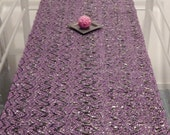 SALE! Hand woven Glossy Purple- Table Runner, made from recycled materials