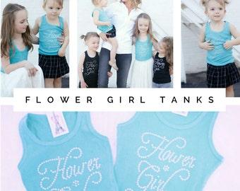 Cute Flower Girl Gift Ideas, Flower Girl Shirts, Team Bride Shirts, Flowergirl, Girls Presents, Tank Tops, Girls Gift Ideas, Flower Tank Top