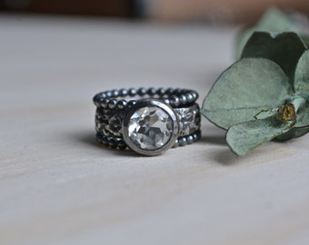 Sale - Green Amethyst Ring, Amethyst Ring Amethyst, Green Amethyst, Sterling Silver, Silver Amethyst Ring, Green Gemstone, Sterling Amethyst