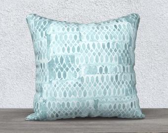 Aqua Pillow, Aqua Pillow Case, Aqua Throw Pillow, Turquoise Pillow, Velveteen Pillow, Aqua Decor, Aqua Lumbar Pillow, 14x20, 18x18,