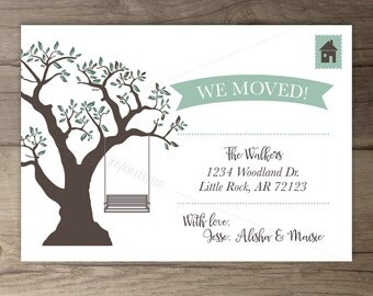 Simple Moving Announcements • Tree Swing • printable