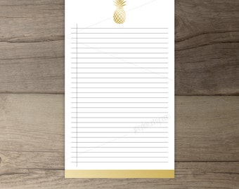 Gold Pineapple Notepad • Printable To-Do list •Pineapple todo list notepad organizer • gift • printable