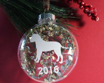 Pit Bull Ornament, Staffordshire Terrier Christmas Tree Ornament