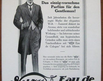 4711, Eau de Cologne, 1912, vintage, ad, original, perfume, cologne, cosmetics, German, advertisement, free shipping, paper, ephemera