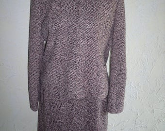 EMMA JAMES A Liz Claiborne Co Petite Pink And Black Tweed Womans Suite Size approx 6 to 8