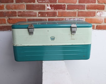 SALE FROM 119: Vintage Thermos Two-Latch Metal Ice Chest