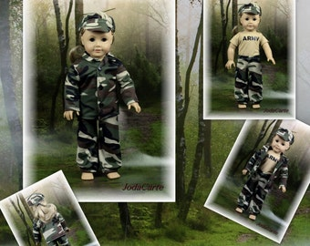 """Army Outfit for 18"""" Doll"""