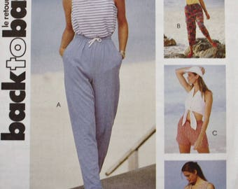 McCalls 6567 /Elastic Waist Pants/ Elastic Waist Shorts Sewing Pattern /UNCUT /