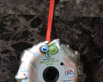 Christmas Ornaments -FIFA World Cup- Christmas Decoration, Upcycled Recycled Repurposed, Video Game, Video Game Decor, Video Game Art