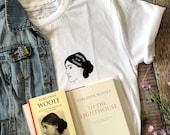 Virginia Woolf T-shirt - Feminist Tshirt - Literary Quote Tee for Book Lover - Girl Power Tee Shirts - Slogan T-shirt - Feminism