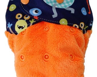 MONSTER MASH - snap in one multi fit nappy