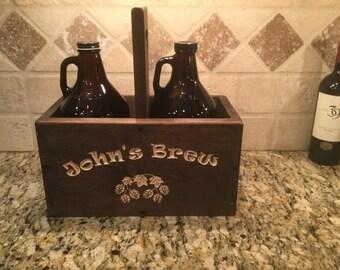 Beer Growler Carrier - Growler Carrier - Craft Beer - Valentine's Day Gift
