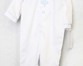 Baby Boy Christening   Baby Christening Outfit   Baby Boy Baptism Suit   Baby Boy Clothes  Baptism Romper   Baby Baptism Outfit  292428