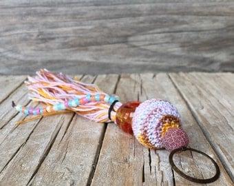 Long Pendants - keychain - accessory - for Bohemian Jewelry - Beaded Tassel