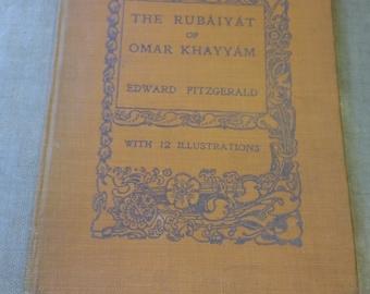 The Rubaiyat of Omar Khayyam - Edward Fitzgerald - Illustrated Vintage Hardcover 1940s