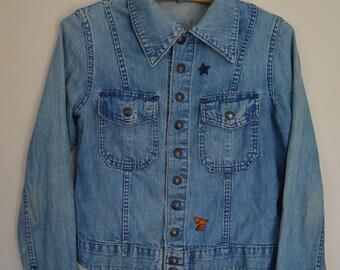 Vintage Patched Jean Jacket