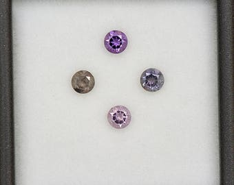Color Shift Sapphire Gemstone Set from Tanzania 0.85 tcw.