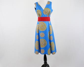 Vintage South Africa Spiral Marguerite Designs Dress