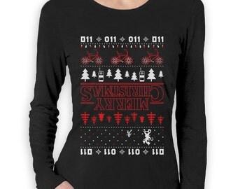 Merry Christmas The Upside Down Ugly Christmas Women's Long Sleeve T-Shirt