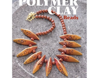 How to make polymer clay beads, this book offers you 35 step by step projects showing you how to make beautiful beads and jewelry