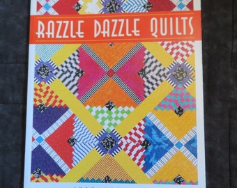 Razzle Dazzle Quilts,Patchwork Quilting book,How to Quilt,Split blocks,patterns,illustrated instructions