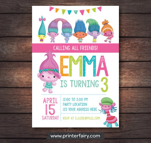Sly image pertaining to trolls printable invitations