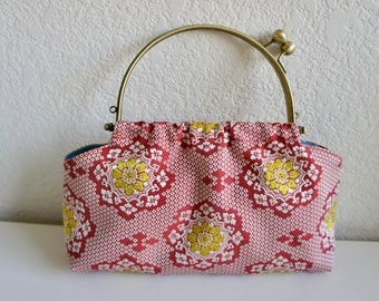 Vintage Obi (Kimono Sash) Bag, Upcycled Japanese Style Bag