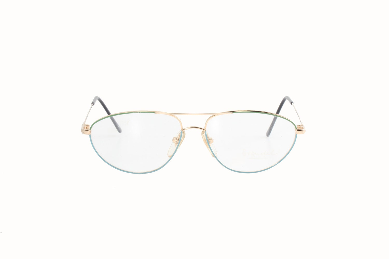 371b7daea5 Brendel vintage 80s multicolor enameled metal aviator eyeglasses frames