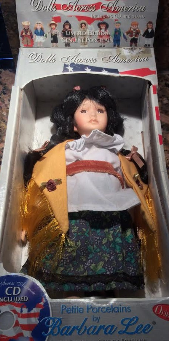 Vintage Dolls Across America, New Mexico Doll, Limited Edition, Signed Certificate, Petite Porcelain Doll by Barbara Lee, Collectible Doll,