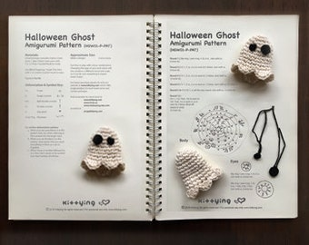 Crochet Pattern Halloween Ghost Amigurumi Funny & Scary Halloween Ghost Decorations Ideas or Toys. Do not purchase, it is Gift with Purchase