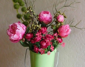 Pink Flower arrangement, Home Decor, Spring Flora