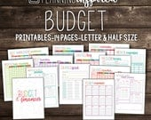 Printable Budget Planner, Budget Printables, 14 Pages Included in both Letter & Half Letter Size, EDITABLE, Instant Download