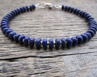 Lapis Lazuli Bracelet, Gemstone Bracelet, Chakra Bracelet, Healing Bracelet, Lapis Bracelet, Stack Bracelet, Bead Bracelet, Lapis Jewelry