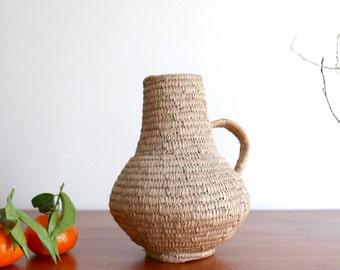 Straw decorative pitcher, 1950s