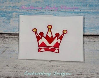 Crown Princess Prince Applique Design File for Embroidery Machine Applique Instant Download King Queen
