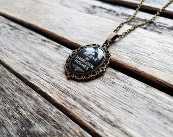 I Believe in Sherlock Holmes - Sherlock Quote - Sherlock Jewellery - Sherlock Pendant - Sherlock Necklace - Sherlocked - Fandom Jewelry