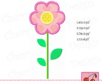 Spring flower, Single Flower Embroidery Applique SPRING10- for 4X4 5x7 6x10 hoop-Machine Embroidery Applique Design