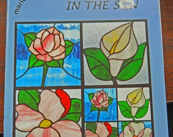 Flowers In The Sun Pattern Book - Stained Glass Pattern Book by Marick Studios - Pattern Book for Stained Glass Flowers & Flower Panels