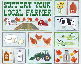 """16x20"""" Support Your Local Farmer Poster"""